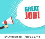 male hand holding megaphone... | Shutterstock .eps vector #789161746