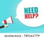 male hand holding megaphone... | Shutterstock .eps vector #789161779