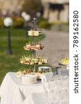 catering on wedding. buffet...   Shutterstock . vector #789162580