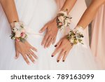 wedding bouquet in bridesmaids... | Shutterstock . vector #789163099
