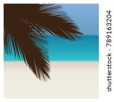 palm and tropical beach | Shutterstock .eps vector #789163204