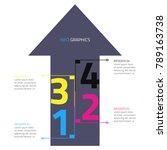 infographic arrows design... | Shutterstock .eps vector #789163738