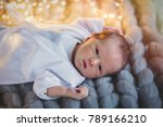 funny little baby wearing a... | Shutterstock . vector #789166210