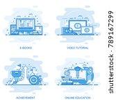 modern flat color line concept... | Shutterstock .eps vector #789167299