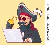 predators internet pirate... | Shutterstock .eps vector #789167830
