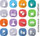 flat vector icon set   cleanser ... | Shutterstock .eps vector #789168964