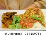 close up beef biryani with... | Shutterstock . vector #789169756