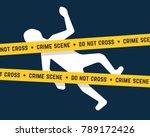 white corpse like crime scene.... | Shutterstock .eps vector #789172426