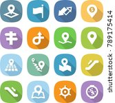 flat vector icon set   pointer... | Shutterstock .eps vector #789175414