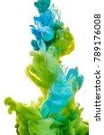 ink in the water. a splash of... | Shutterstock . vector #789176008