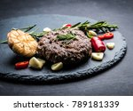 delicious beef burger steak... | Shutterstock . vector #789181339