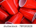 red plastic drinking cups | Shutterstock . vector #789181828