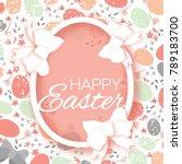 origami happy easter eggs.... | Shutterstock . vector #789183700