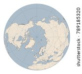 north pole map. huge and... | Shutterstock .eps vector #789185320