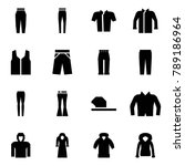 origami style icon set   pants... | Shutterstock .eps vector #789186964