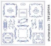 vector sign  symbols for frames ... | Shutterstock .eps vector #789189544