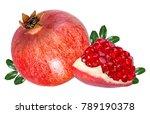fresh pomegranate isolated on... | Shutterstock . vector #789190378