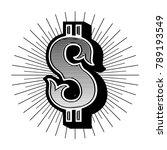 dollar sign vintage. vector... | Shutterstock .eps vector #789193549