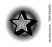 emblem star. vector... | Shutterstock .eps vector #789193600