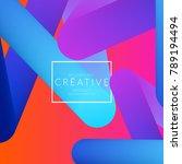 abstract 3d liquid fluid color... | Shutterstock .eps vector #789194494