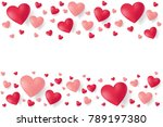 valentines day sale background... | Shutterstock .eps vector #789197380