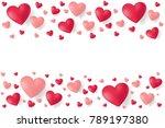 valentines day sale background... | Shutterstock .eps vector #789197380