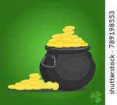 pot of gold.cartoon style.... | Shutterstock .eps vector #789198553