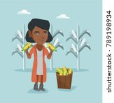 young african american farmer... | Shutterstock .eps vector #789198934