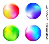 set of colorful spheres... | Shutterstock .eps vector #789200494