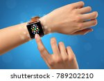 naked female hand with... | Shutterstock . vector #789202210