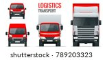 logistics transport. front view ... | Shutterstock .eps vector #789203323