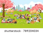 a vector illustration of people ... | Shutterstock .eps vector #789204034