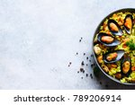 traditional spanish seafood... | Shutterstock . vector #789206914