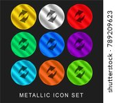 refresh arrows 9 color metallic ... | Shutterstock .eps vector #789209623
