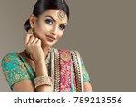 portrait of beautiful indian... | Shutterstock . vector #789213556