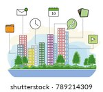 smart city and wireless... | Shutterstock .eps vector #789214309