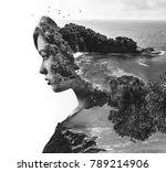 double  multiple exposure.... | Shutterstock . vector #789214906