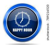 happy hour vector icon. modern...   Shutterstock .eps vector #789216520
