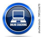 online coaching vector icon....   Shutterstock .eps vector #789216670