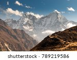 mountains in himalayas  nepal ... | Shutterstock . vector #789219586