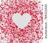 vector pink heart confetti... | Shutterstock .eps vector #789221020