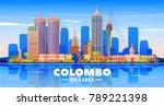 colombo  sri lanka  skyline... | Shutterstock .eps vector #789221398