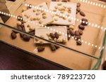 chocolate with nuts in the shop ... | Shutterstock . vector #789223720