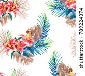 seamless floral pattern with... | Shutterstock . vector #789224374