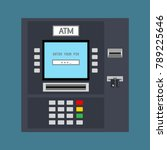 atm machine with a card inserted | Shutterstock .eps vector #789225646