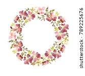 wreath made of gentle red...   Shutterstock . vector #789225676