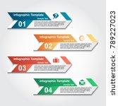 infographics business template... | Shutterstock .eps vector #789227023