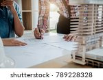 architect engineer design... | Shutterstock . vector #789228328