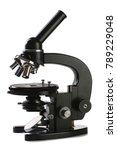 old black microscope isolated...   Shutterstock . vector #789229048