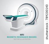 magnetic resonance imaging... | Shutterstock .eps vector #789230140